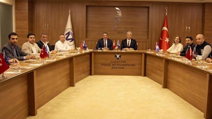 MMO GAZİANTEP ŞUBESİ, GAİMDER'İ ZİYARET ETTİ