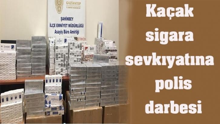 Kaçak sigara sevkıyatına polis darbesi