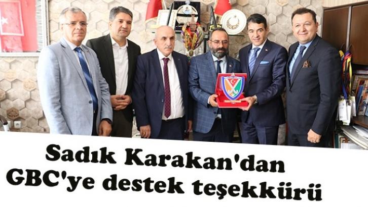 Sadık Karakan'dan GBC'ye destek teşekkürü