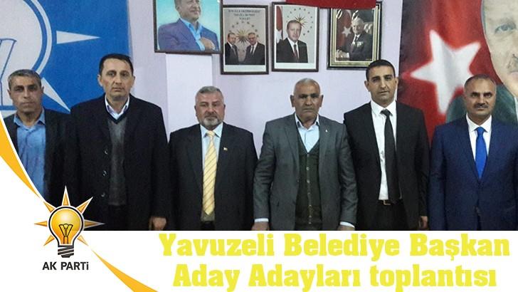 Yavuzeli Belediye Başkan Aday Adayları toplantısı