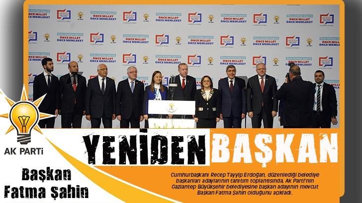 Ak Parti'nin Gaziantep'ten Belediye Başkan Adayı Fatma Şahin oldu