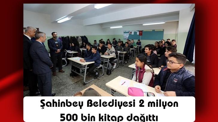 Şahinbey Belediyesi 2 milyon 500 bin kitap dağıttı