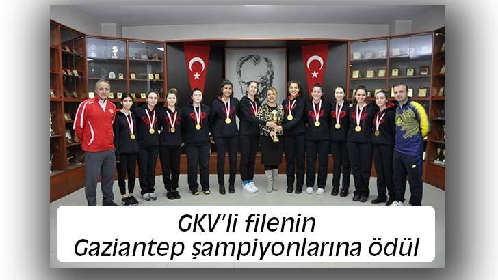 GKV'li filenin Gaziantep şampiyonlarına ödül