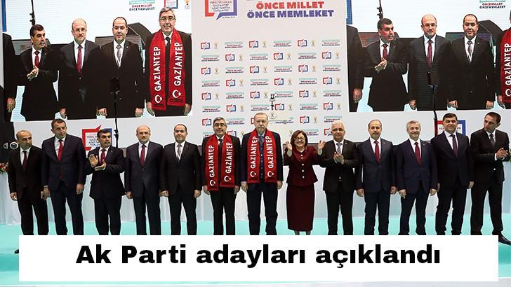 Cumhurbaşkanı Erdoğan Gaziantep'in belediye başkan adaylarını açıkladı