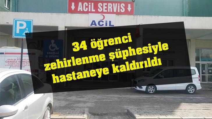 Gaziantep'te 34 öğrenci zehirlenme şüphesiyle hastaneye kaldırıldı