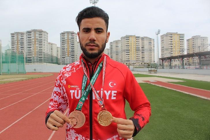 Suriyeli atlet Balkan Şampiyonası'nda üçüncü oldu