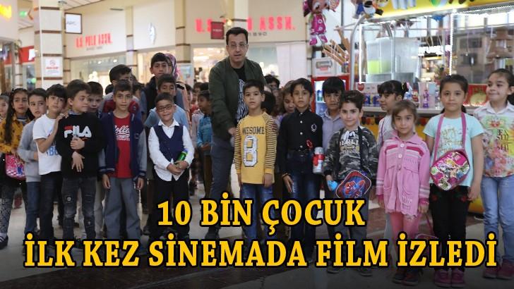 Gaziantep'te 10 bin çocuk ilk kez sinemada film izledi