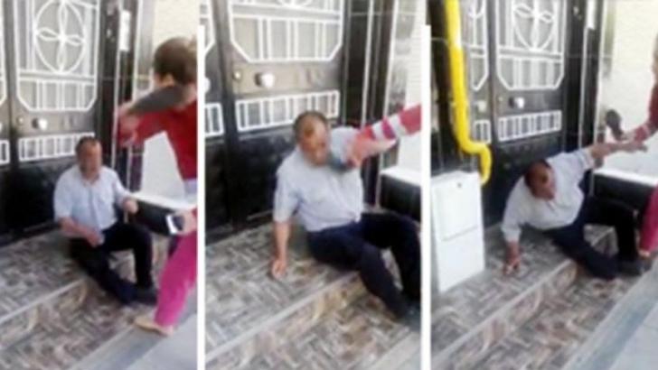 Çocuk tacizi şüphelisini önce terlikle dövdüler sonra  polise teslim ettiler