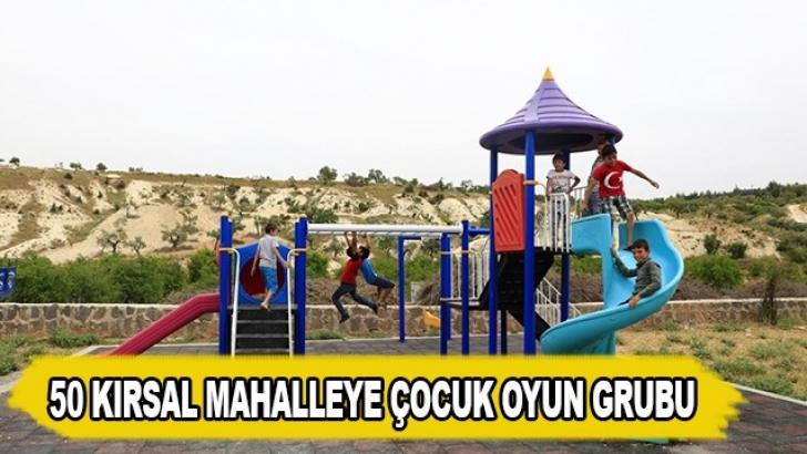 Gaziantep'te 50 kırsal mahalleye çocuk oyun grubu