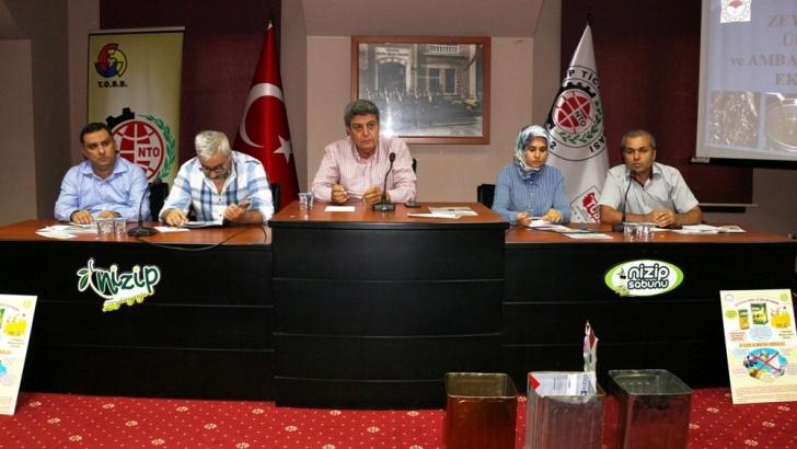 Zeytin ve Zeytinyağı Sektörü Nizip Ticaret Odası'nda Toplandı