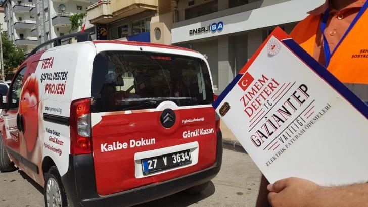 Gaziantep'te Zimem Defteri ile vatandaşların elektrik borcu ödendi
