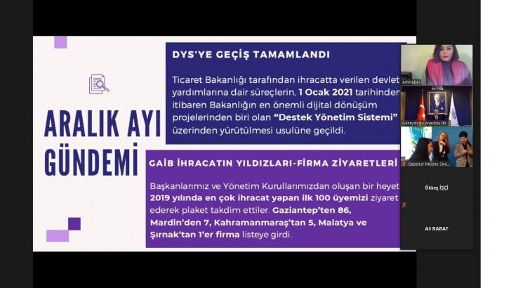 GAİB Koordinatör Başkanı Ahmet Fikret Kileci 2020 yılını değerlendirdi