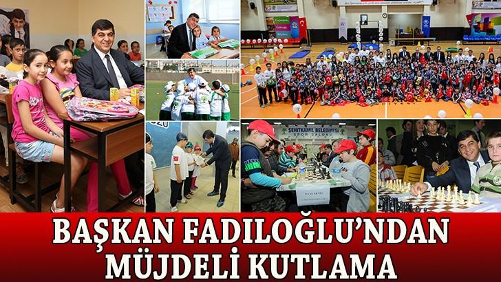 Başkan Fadıloğlu, çocukların bayramını kutladı