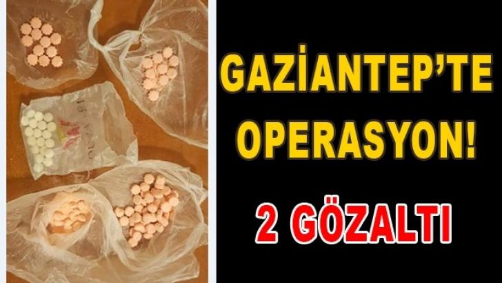 Gaziantep'te uyuşturucu operasyonu: 2 gözaltı